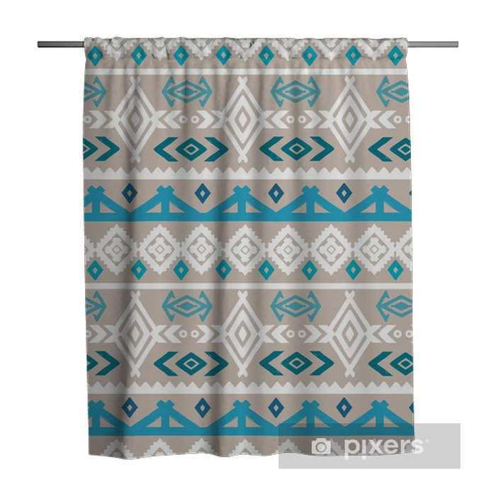 Tribal art boho ethnic seamless pattern Shower Curtain - Graphic Resources