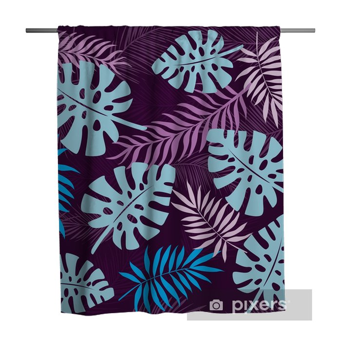 tropical leaves seamless pattern background Shower Curtain - Plants and Flowers