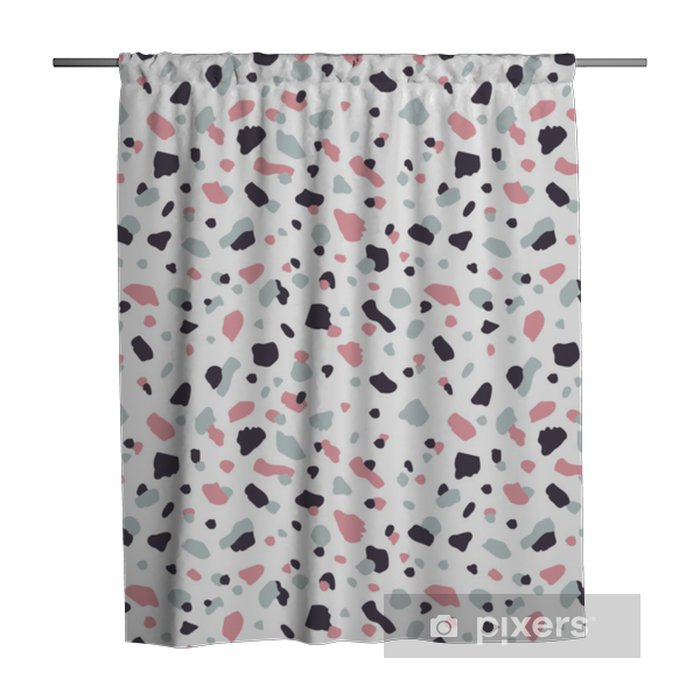 Vector modern terrazzo style seamless pattern background. Shower Curtain - Graphic Resources