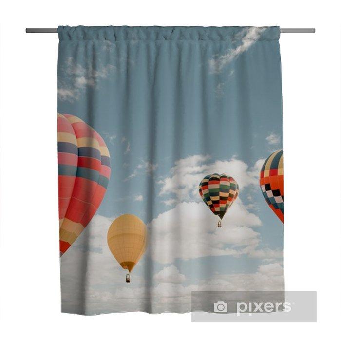 Hot Air Balloon Carnival Shower Curtain