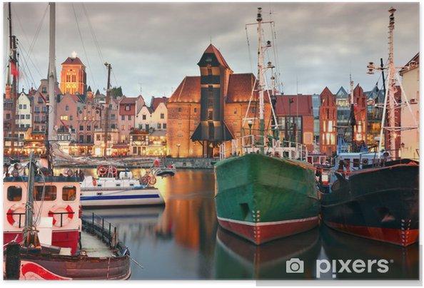 Självhäftande Poster Gdansk - iStaging