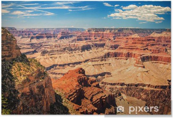 Självhäftande Poster Grand Canyon solig dag med blå himmel - Teman