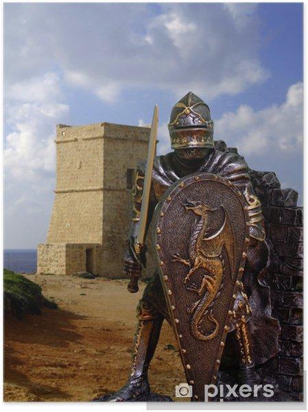 Självhäftande Poster Knights pansar - Riddare