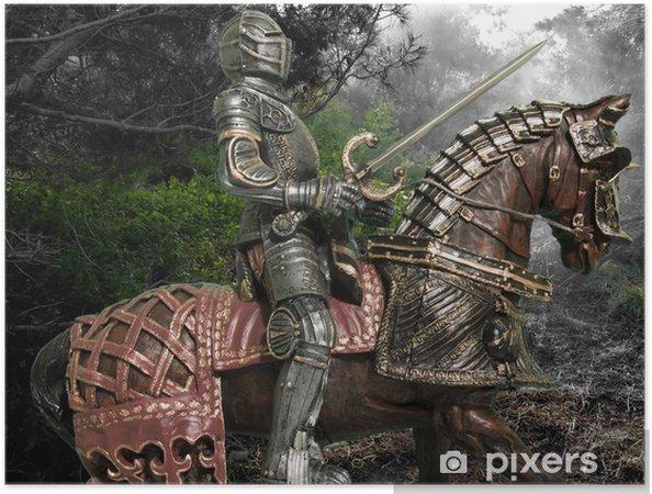 Självhäftande Poster Riddare till häst - Riddare