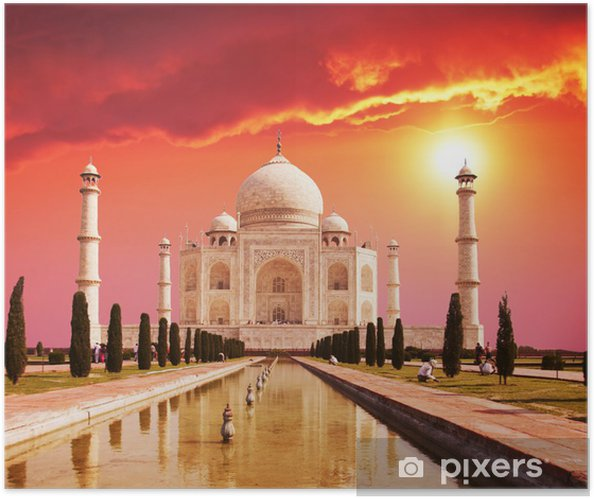 Självhäftande Poster Taj Mahal Palace i Indien -