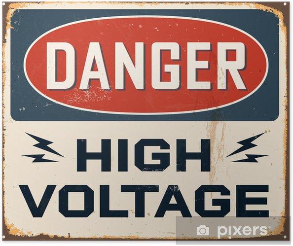Självhäftande Poster Vintage Metal Sign - Vector - Grunge effekter kan tas bort - Teman