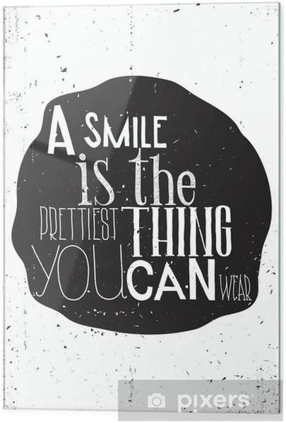 Skleněný obraz Jednoduché Stylový motivační plakát, na každý den - Duševní stavy