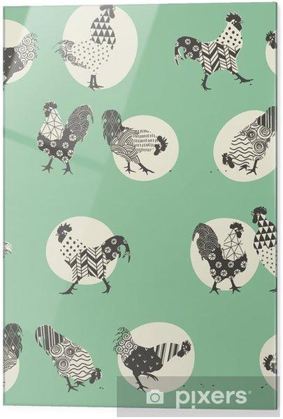 Skleněný obraz Roosters -