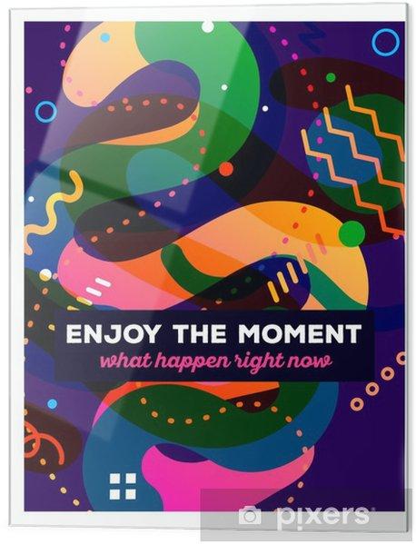 Skleněný obraz Vektorové ilustrace barevné abstraktní kompozice s textem stáčen - Grafika