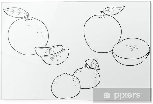 Frutta Da Colorare Autunnale