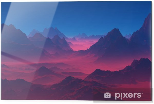 Stampa su vetro Montagne al tramonto