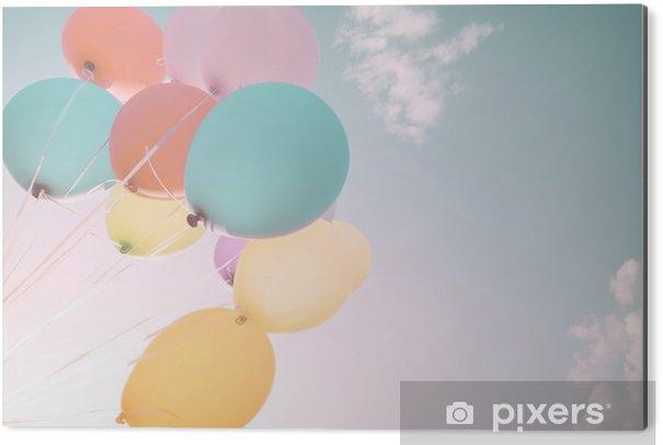 Tableau Alu-Dibond Ballons colorés en vacances d'été. filtre de couleur pastel - Passe-temps et loisirs