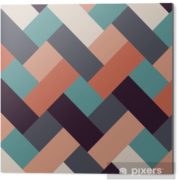 Tableau Alu-Dibond Style rétro rayures abstrait - Arrière plans