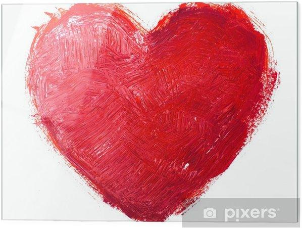 Tableau en verre Coeur d'aquarelle. Concept - l'amour, les relations, l'art, la peinture - Arrière plans