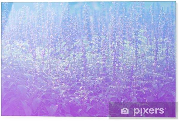Tableau en verre Lavande dans les styles de pastel. - Paysages