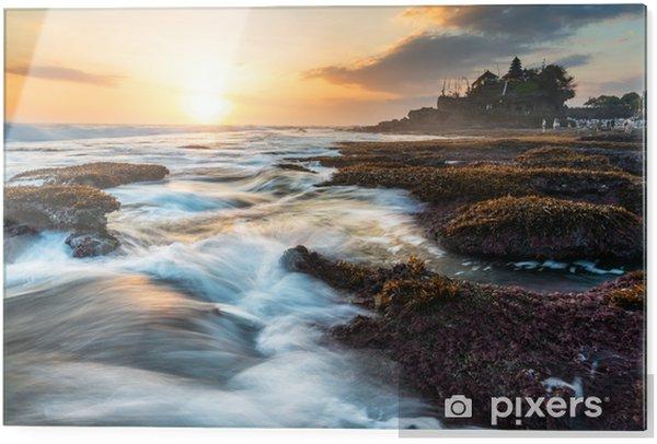 Tableau en verre Paysage marin, tanah lot temple à Bali, en Indonésie. attraction touristique célèbre et destination de voyage - Paysages