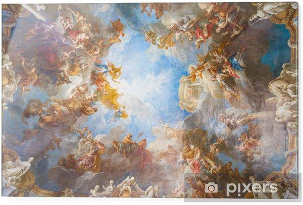 Tableau en verre Peinture au plafond du Palais de Versailles, près de Paris, France - Monuments