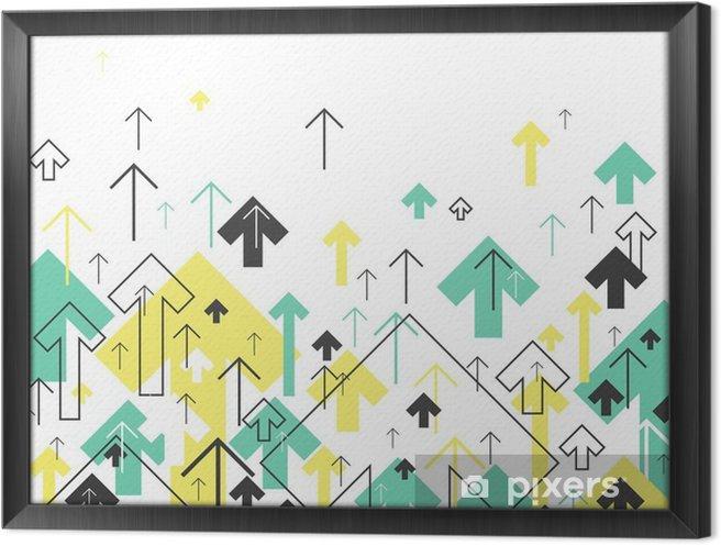 Tableau encadré Abstract Arrows Success Up. Mouvement Up. Succès Concept Couverture - Ressources graphiques
