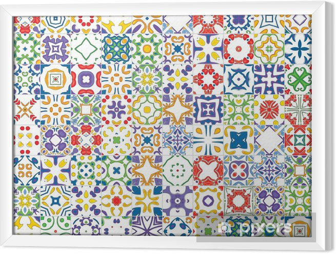 Tableau encadré Azulejos portugais - Arrière plans