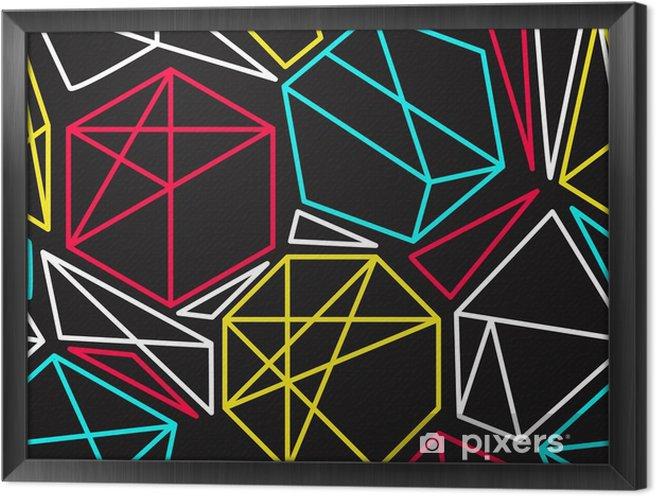Tableau encadré Concept de vecteur Cmyk géométrique seamless pattern dans des couleurs vives - Ressources graphiques