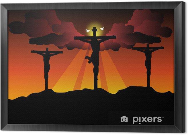 Tableau encadré Jésus-Christ crucifié - Pâques
