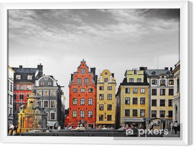 Tableau encadré Stockholm, le c?ur de la vieille ville, -