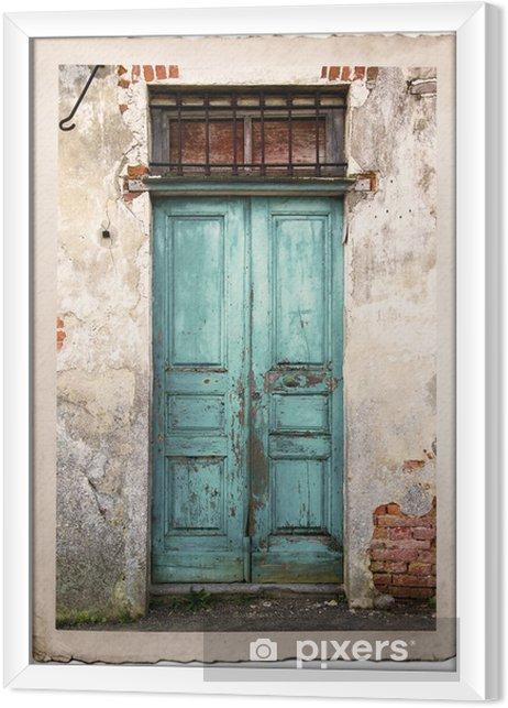 Tableau encadré Vieille photo de la porte millésime - iStaging