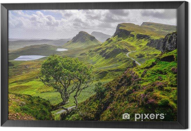 Tableau encadré Vue panoramique sur les montagnes Quiraing à Isle of Skye, haute écossais - Thèmes