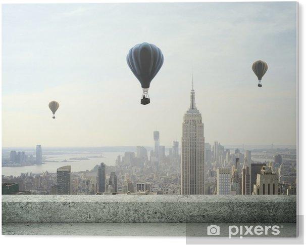 Tableau Plexiglas Ballon à air sur le ciel - Thèmes