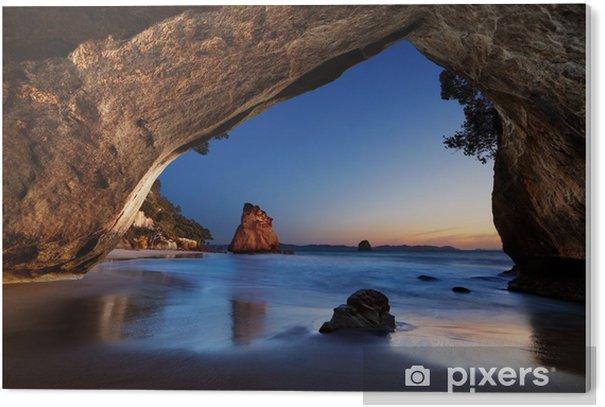 Tableau Plexiglas Cathedral Cove - Nouvelle-Zélande - Thèmes