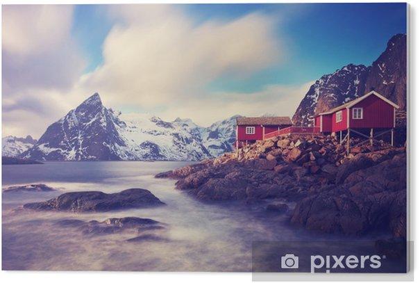 Tableau Plexiglas Lofoten im winter - Paysages