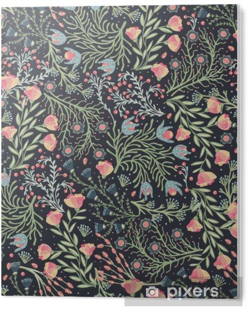 Tableau Plexiglas Modèle sans couture florale. fleurs créatives dessinées à la main. arrière-plan artistique coloré avec la fleur. herbe abstraite il peut être utilisé pour le papier peint, les textiles, les emballages, les cartes. illustration vectorielle, eps10 - Plantes et fleurs