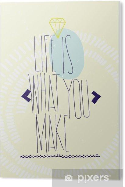 Tableau Plexiglas Motivation d'inspiration simple cite affiche avec diamant, dood - Business