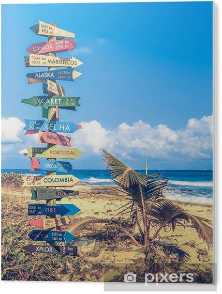 Tableau Plexiglas Panneau de Voyage du Monde - Passe-temps et loisirs
