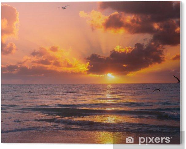 Tableau Plexiglas Sea sunset - Mer et océan