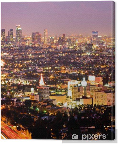 Tableaux premium Los Angeles et Hollywood la nuit - Thèmes