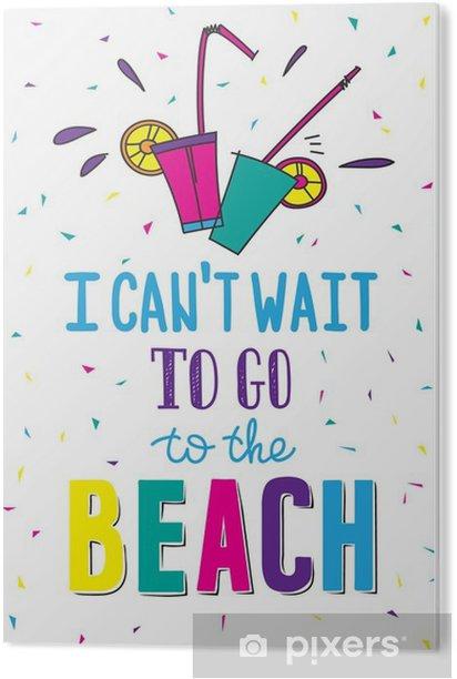 Tableau PVC Affiche d'été tirée par la main en citant - Passe-temps et loisirs