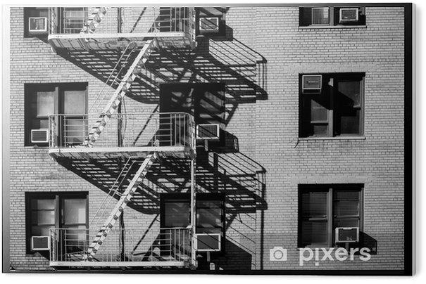 Tableau PVC Escalier de secours new york - Bâtiments et architecture