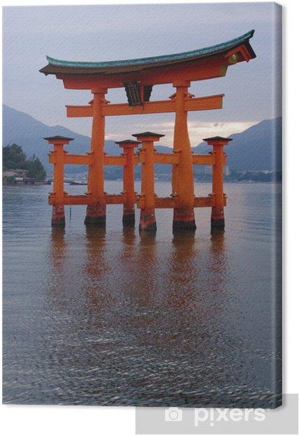 Tableau sur toile 日本 神社 広 島 厳 島 - Bâtiments publics