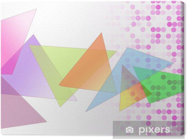 Tableau sur toile 三角 図 形 模 様 - Abstrait