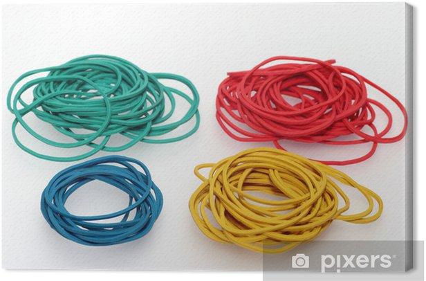 Tableau sur toile Цветные резиновые кольца - Jeux