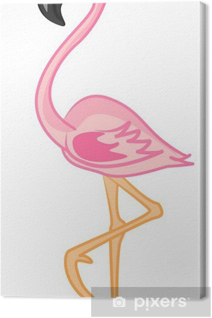 Tableau sur toile Мультфильм фламинго - Oiseaux
