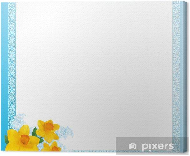 Tableau sur toile Художественная рамка голубая с нарциссами - Signes et symboles