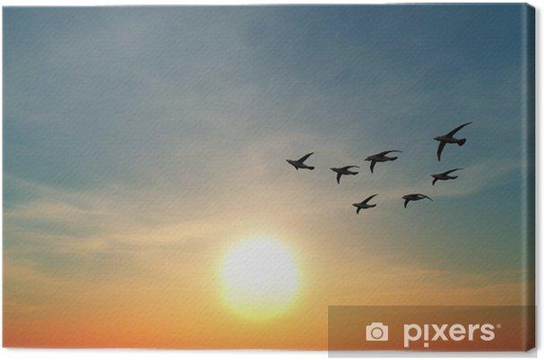 Tableau sur toile 渡 り 鳥 - Oiseaux