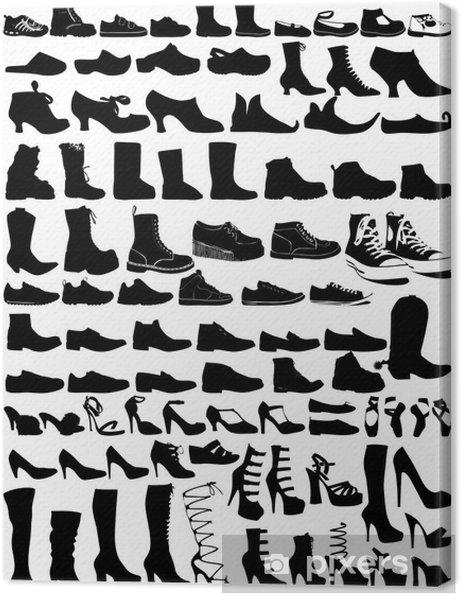 Tableau sur toile 85 chaussures - Mode