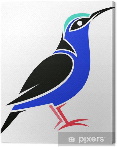 Tableau sur toile À pattes rouges Honeycreeper - Oiseaux