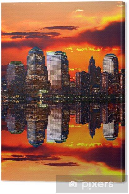 Tableau sur toile Abaissez Manhattan Skyline - Villes américaines