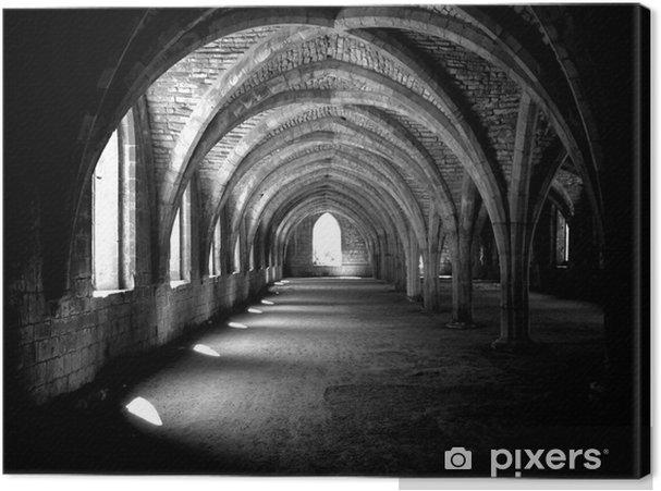 Tableau sur toile Abbaye arches -