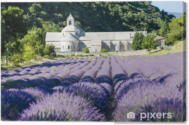 Tableau sur toile Abbaye de Senanque avec champ de lavande, Provence, France - Thèmes