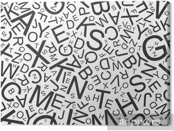 Tableau sur toile ABC - Lettres - Thèmes